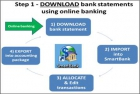 Step 1) Download Bank Statement files from your Online Bank Account